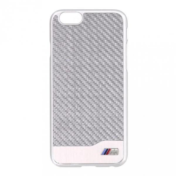 Telefono dangtelis BMW M Hard Case Carbon Aluminium Iphone 6 BMHCP6MDCS silver Paveikslėlis 1 iš 1 310820012408