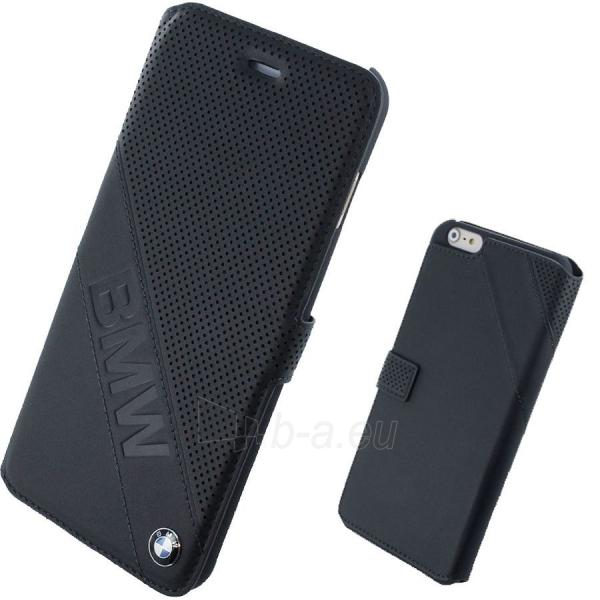 Telefono dangtelis BMW Signature Slanted Logo Booktype Case Iphone 6 black BMFLBKP6LDLB Paveikslėlis 1 iš 1 310820012410