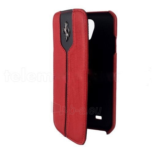 Telefono dangtelis Ferrari Samsung i9500 Galaxy S4 Ferrari Leather Flip Book FEMTFLBKS4RE red Paveikslėlis 1 iš 1 310820012356