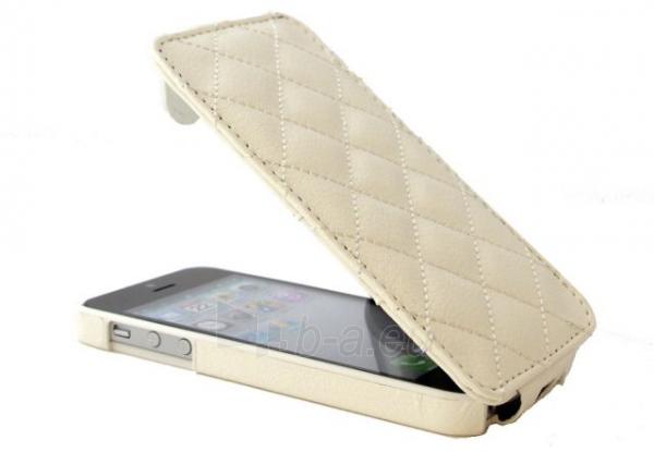Telefono dangtelis Gecko Apple iPhone 5/5S Allure Flip Wallet GG800222 Gecko balts - white Paveikslėlis 1 iš 1 310820012384