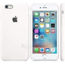 Telefono dėklas Apple iPhone 6/6S Silicon Case Blister MKY12ZM/A balts - white Paveikslėlis 1 iš 1 310820039936