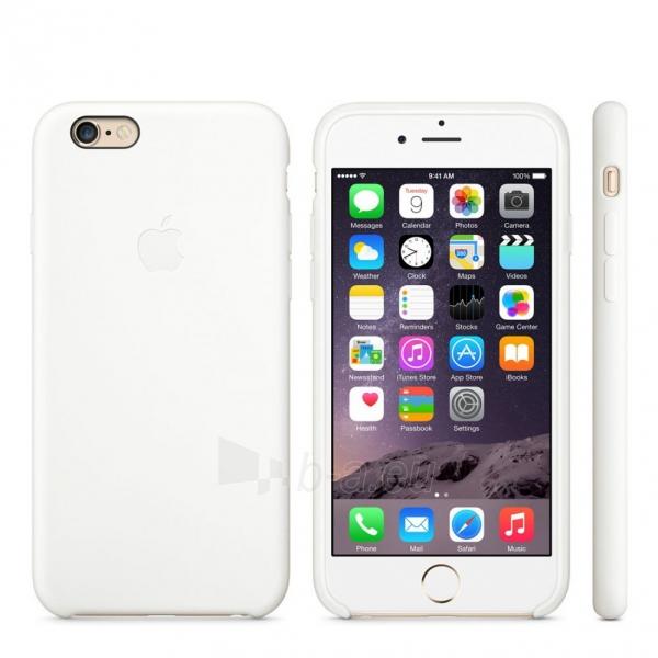 Telefono dėklas Apple Silicon Case Blister MGQG2ZM/A white Paveikslėlis 1 iš 1 310820013133