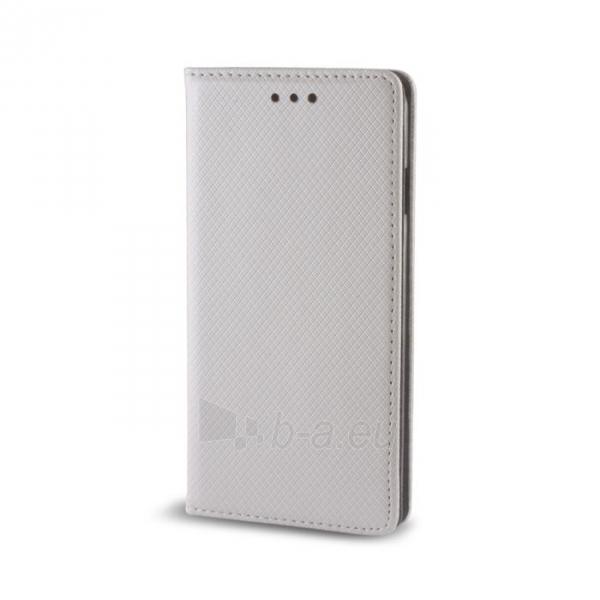Telefono dėklas GreenGo LG X Screen Smart Magnet silver Paveikslėlis 1 iš 1 310820040432