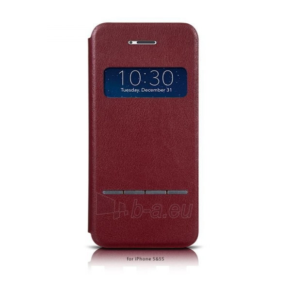 Telefono dėklas HOCO Apple iPhone 5/5S Luxury series HI-L051 HOCO wine red Paveikslėlis 1 iš 1 310820012809