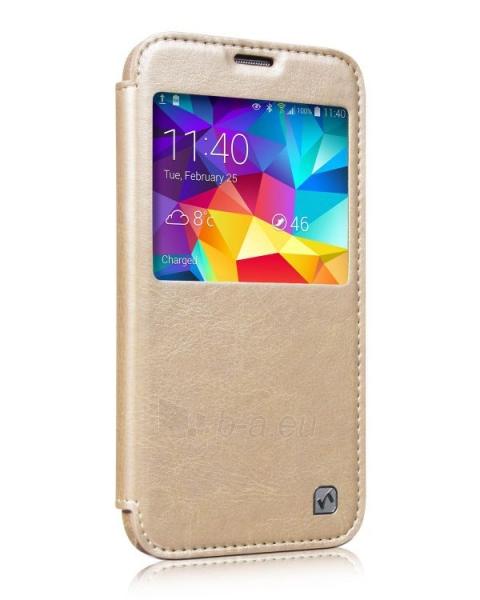 Telefono dėklas HOCO Samsung G900 Galaxy S5 Crystal View Series HS-L078 gold HOCO Paveikslėlis 1 iš 1 310820014096