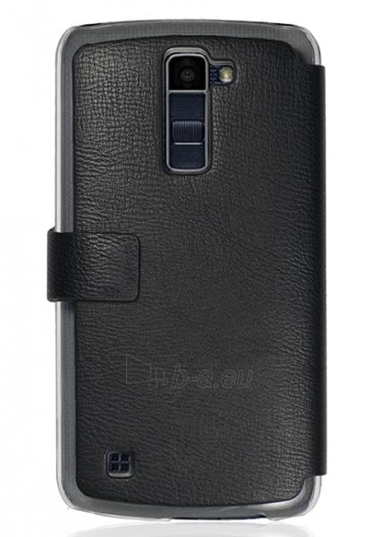 Telefono dėklas Just Must Flip case Slim for LG K10 K420N (Black) Paveikslėlis 1 iš 2 310820016154