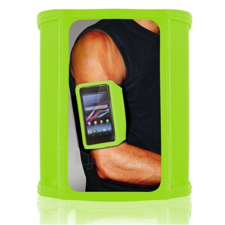 KSIX T-ARMBAND LYCRA-TUBE FOR SMARTPHONE UP TO 5.2 INCHES SIZE S GREEN Paveikslėlis 1 iš 1 250232002892