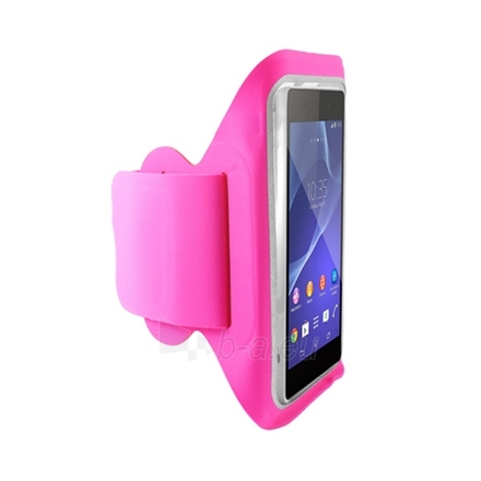 KSIX V-ARMBAND LYCRA WITH VELCRO UNIVERSAL FOR SMARTPHONE UP TO 5.7 INCHES PINK Paveikslėlis 1 iš 1 250232002895
