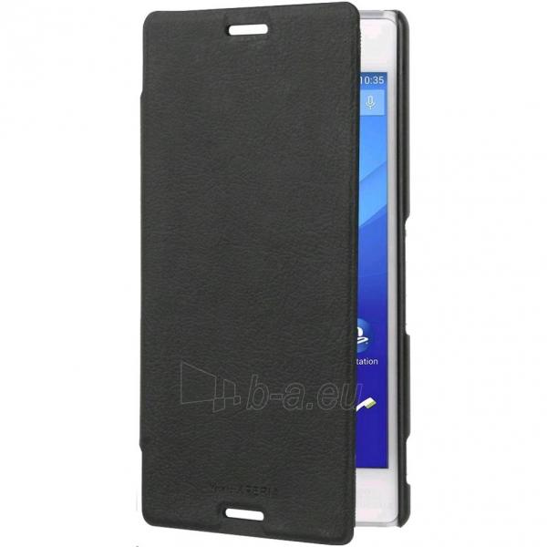 Telefono dėklas Roxfit Slimline Book Case for Sony Xperia M4 Aqua SMA5155B melns - black Paveikslėlis 1 iš 1 310820013103