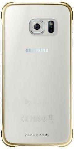 Telefono dėklas Samsung Clear cover for Galaxy S6 G920 EF-QG920BFEGWW Gold Paveikslėlis 1 iš 1 310820012891