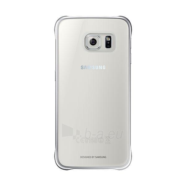Telefono dėklas Samsung Clear cover for Galaxy S6 G920 EF-QG920BSEGWW Silver Paveikslėlis 1 iš 1 310820012892