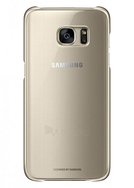 Telefono dėklas Samsung Clear Cover for Galaxy S7 G930 (Gold) Paveikslėlis 1 iš 2 310820016121