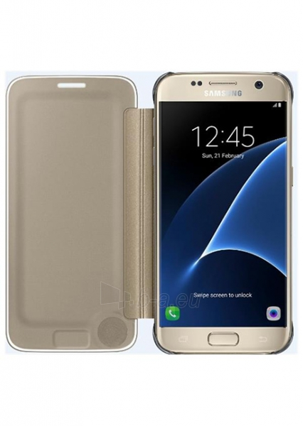 Telefono dėklas Samsung Clear View Cover for Galaxy S7 Edge G935 (Gold) Paveikslėlis 1 iš 3 310820016124