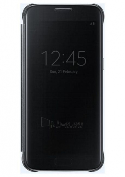 Telefono dėklas Samsung Clear View Cover Galaxy S7 EF-ZG930CBE black Paveikslėlis 1 iš 1 310820039620