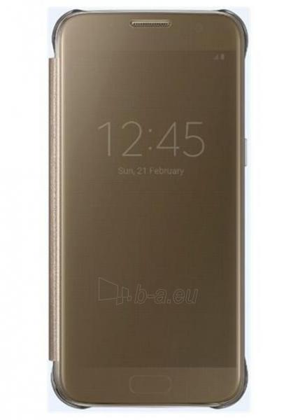 Telefono dėklas Samsung Clear View Cover Galaxy S7 EF-ZG930CFE gold Paveikslėlis 1 iš 1 310820039621
