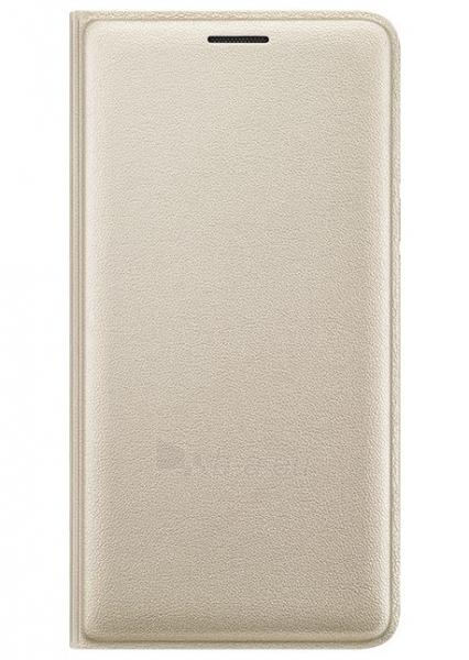 Telefono dėklas Samsung Flip Cover for Galaxy J3 J320 EF-WJ320PFEGWW Gold Paveikslėlis 1 iš 1 310820041704