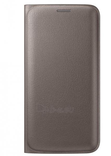Telefono dėklas Samsung Flip Wallet (PU) for Galaxy S6 G920 EF-WG920PFEGWW Gold Paveikslėlis 1 iš 1 310820013081