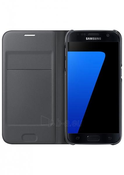 Telefono dėklas Samsung Flip Wallet for Galaxy S7 G930 (Black) Paveikslėlis 1 iš 3 310820016141