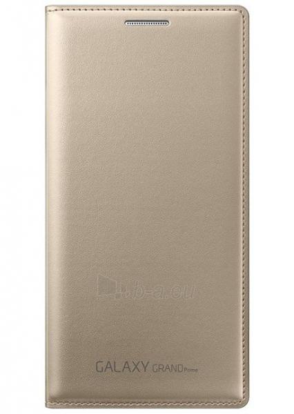 Telefono dėklas Samsung Flip wallet for Grand Prime G530 EF-WG530BFEGWW Gold Paveikslėlis 1 iš 1 310820012928