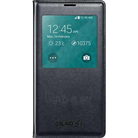 Telefono dėklas Samsung G900 Galaxy S5 S-View EF-CG900BBEG melns - black Paveikslėlis 1 iš 1 310820041686
