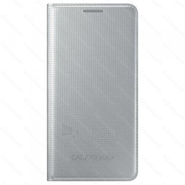 Telefono dėklas Samsung Galaxy Alpha Flip Cover EF-FG850BSE sudrabs Paveikslėlis 1 iš 1 310820012894