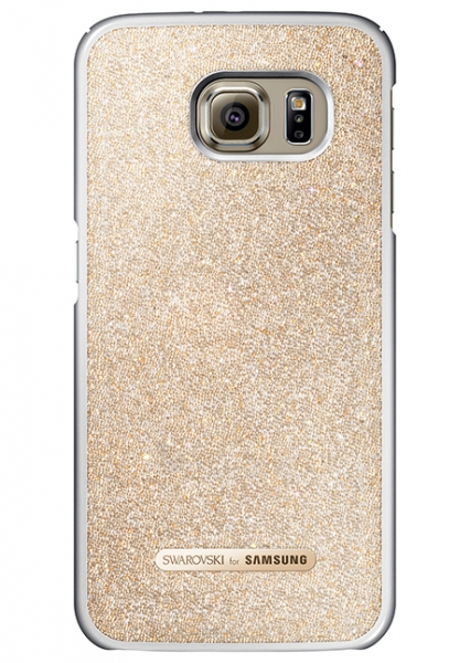Telefono dėklas Samsung Galaxy S6 Edge Swarovski Protective Cover (Gold) Paveikslėlis 1 iš 1 310820016161