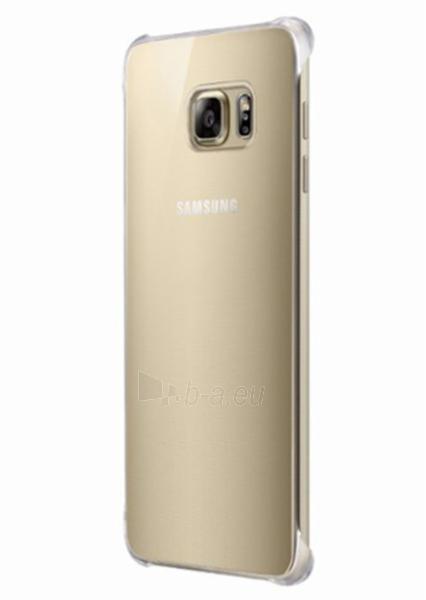 Telefono dėklas Samsung Glossy cover for Galaxy S6 Edge + (G928) EF-QG928MFEGWW Gold Paveikslėlis 1 iš 2 310820014152