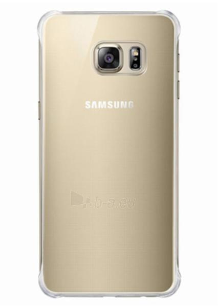 Telefono dėklas Samsung Glossy cover for Galaxy S6 Edge + (G928) EF-QG928MFEGWW Gold Paveikslėlis 2 iš 2 310820014152