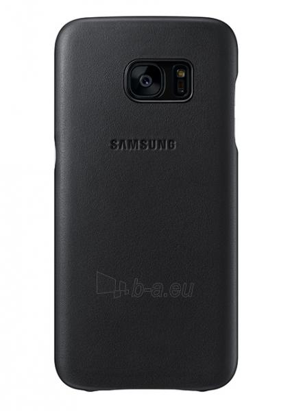 Telefono dėklas Samsung Leather Cover for Galaxy S7 G930 (Black) Paveikslėlis 1 iš 3 310820016174