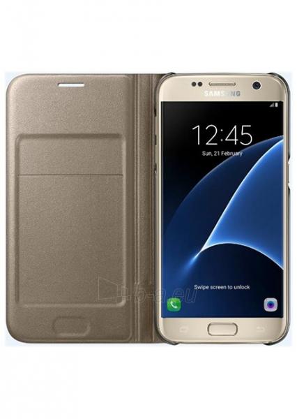Samsung LED Flip Cover for Galaxy S7 G930 (Gold) Paveikslėlis 1 iš 3 250232003074