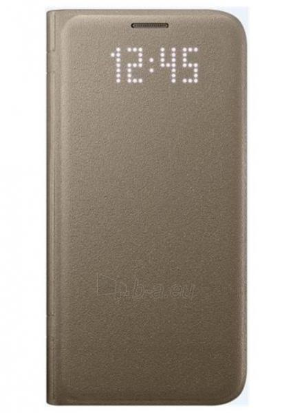 Telefono dėklas Samsung Led View Cover, Gold Galaxy S7 Edge EF-NG935PFEGWW Paveikslėlis 1 iš 1 310820039628