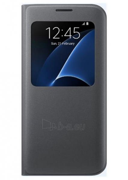 Samsung S-view cover for Galaxy S7 Edge G935 (Black) Paveikslėlis 1 iš 3 250232003079