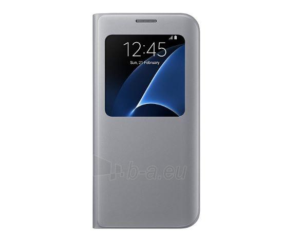 Telefono dėklas SAMSUNG S View Cover for S7 edge Silver Paveikslėlis 1 iš 1 310820034771