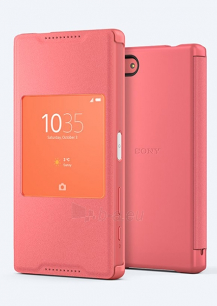 Sony Mobile tyle-UP Cover for XPERIA Z5 Compact E5823 SCR 44 (Coral) Paveikslėlis 1 iš 1 250232003097