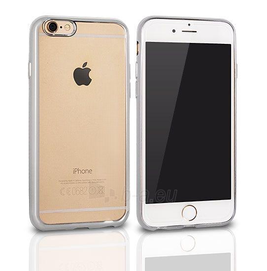 Telefono dėklas Telone Huawei P8 lite Clear case Silver Paveikslėlis 1 iš 1 310820041809