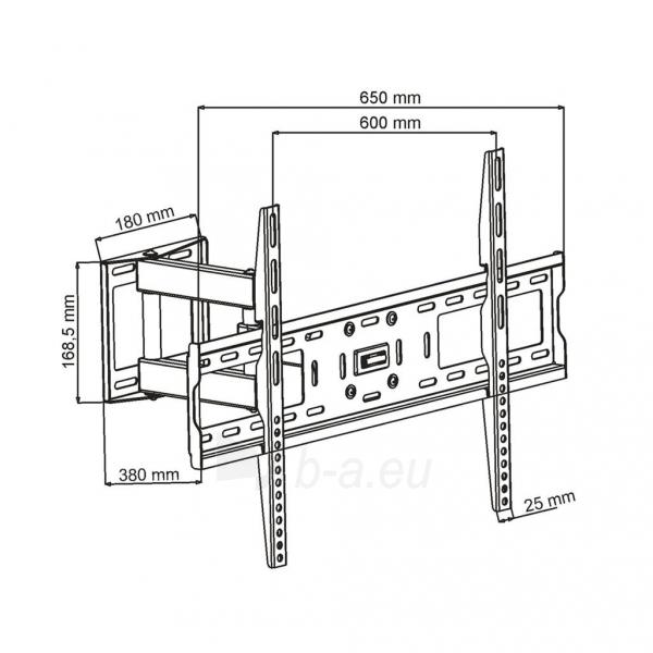 Televizoriaus laikiklis ART AR-66 for LCD/LED / Plasma 32-63 30kg vertical / Paveikslėlis 4 iš 5 310820037591