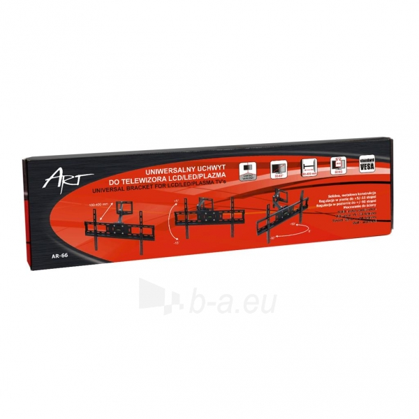 Televizoriaus laikiklis ART AR-66 for LCD/LED / Plasma 32-63 30kg vertical / Paveikslėlis 5 iš 5 310820037591