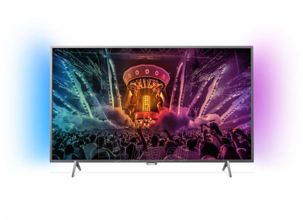 """TV Philips 43PUS6401 43"""" (109cm) Ultra HD LED TV/ Smart/ 4K/ DVB-T/T2/S/S2/C/ 3xUSB, 4xHDMI/ 350cdm2/ WiFi/ VESA/ Android 5.1/ Silver Paveikslėlis 1 iš 1 310820005483"""