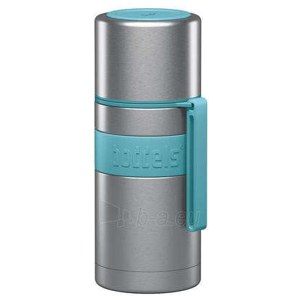 Termosas Boddels HEET Vacuum flask with cup Turquoise blue, Capacity 0.35 L, Diameter 7.2 cm, Bisphenol A (BPA) free Paveikslėlis 1 iš 3 310820219662