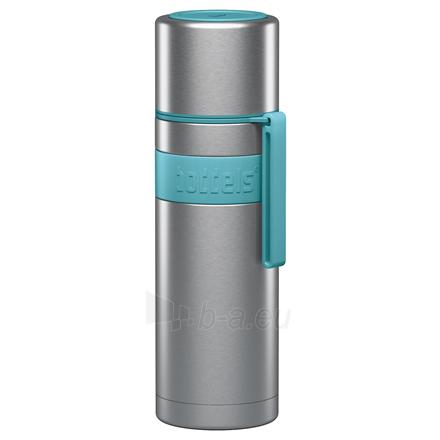 Termosas Boddels HEET Vacuum flask with cup Turquoise blue, Capacity 0.5 L, Diameter 7.2 cm, Bisphenol A (BPA) free Paveikslėlis 1 iš 3 310820219667