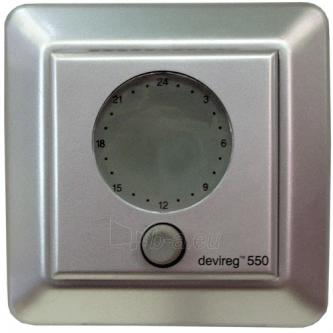 Termostatas DEVI DEVIREG 550 v2, spalva sidabrinė Paveikslėlis 1 iš 1 222801000407