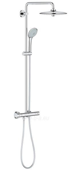 Termostatinė dušo sistema Euphoria 260 (stac. galva Ø260, alkūnė 450 mm, rankinis dušas Euphoria 110), chromas Paveikslėlis 1 iš 2 310820165725