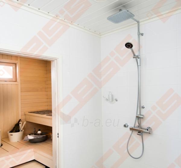 Termostatinė lietaus dušo sistema ORAS Optima su patogiomis suimti rankenėlėmis, rankiniu dušu ir snapu Paveikslėlis 3 iš 3 30091700025