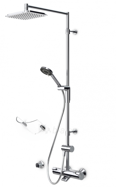 Termostatinė lietaus vonios/dušo sistema OPTIMA su rankiniu dušu ir snapu, chromas Paveikslėlis 1 iš 2 310820163761