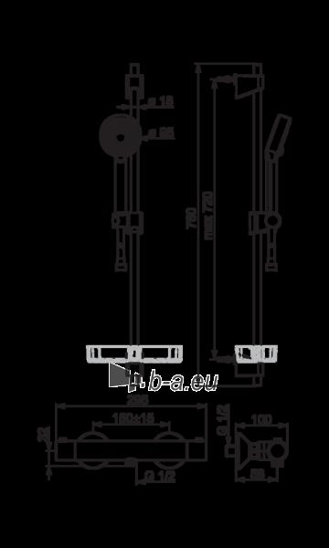 Termostatinis dušo maišytuvas SAFIRA su dušo komplektu L 600, chromas Paveikslėlis 2 iš 2 310820163843