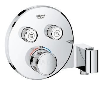 Termostatinis potinkinio dušo maišytuvo komplektas SmartControl, centrinė galva D260, chromas Paveikslėlis 3 iš 3 310820165762