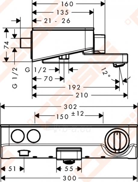 Termostatinis vonios/dušo maišytuvas HANSGROHE Shower Tablet Select 300 Paveikslėlis 2 iš 3 30091700047