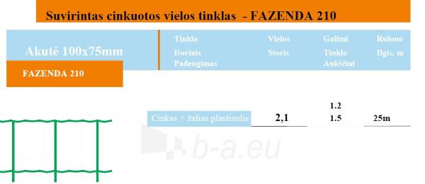 Tinklas FASENDA 210 100 x75 H-1,5m (25 m, 37,5 kv.m) Paveikslėlis 2 iš 2 239340500061