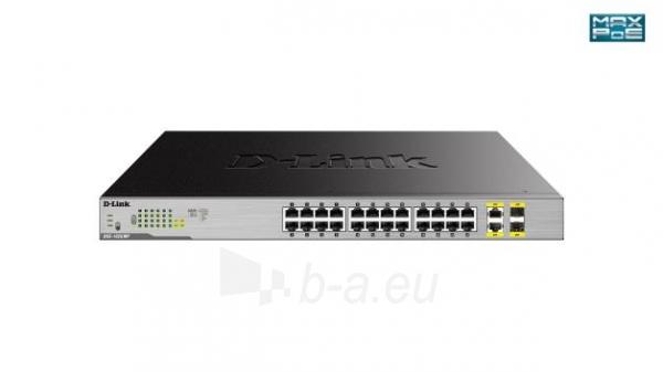 Tinklo komutatorius D-Link 24-Port Desktop Gigabit PoE + 2GE Combo Switch Total PoE Budget: 370W Paveikslėlis 1 iš 2 310820042374