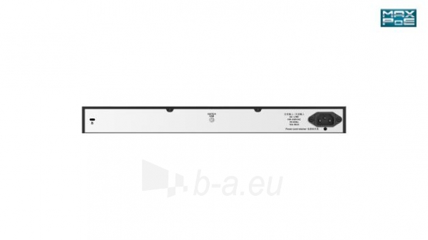 Tinklo komutatorius D-Link 24-Port Desktop Gigabit PoE + 2GE Combo Switch Total PoE Budget: 370W Paveikslėlis 2 iš 2 310820042374
